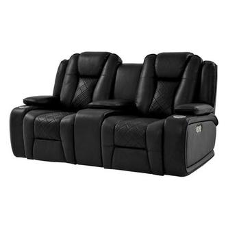 Chanel Black Power Motion Sofa w/Console