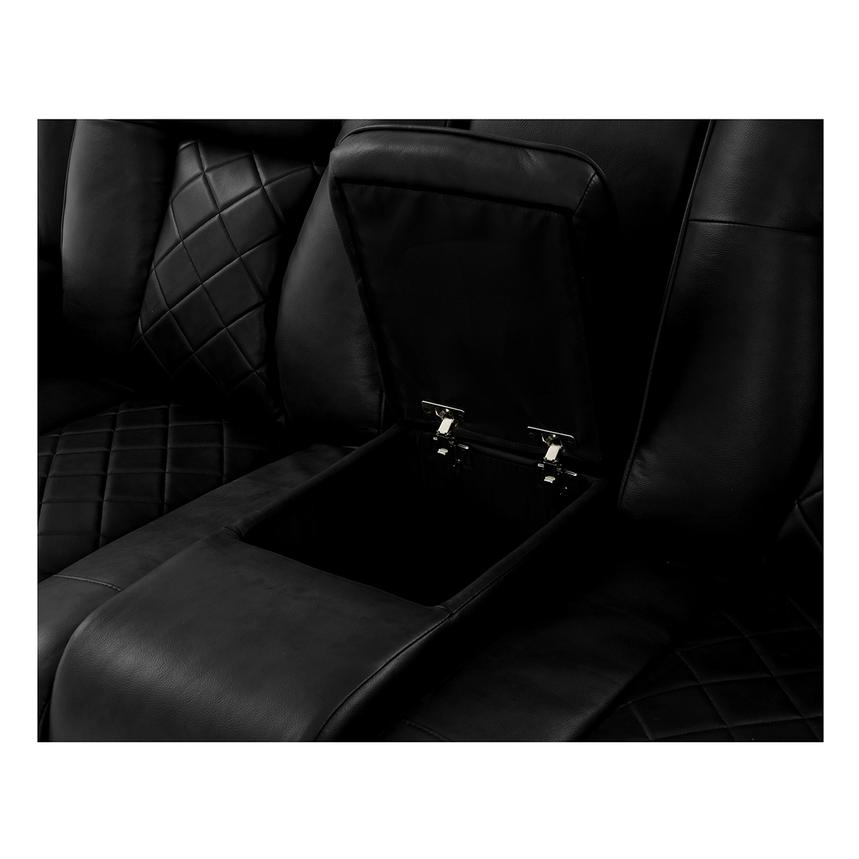 Chanel Black Power Motion Sofa w/Console  alternate image, 8 of 13 images.