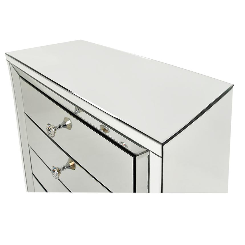 Amia White Mirrored Cabinet  alternate image, 4 of 8 images.