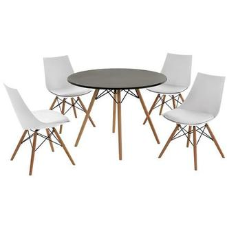 Annette White 5 Piece Casual Dining Set