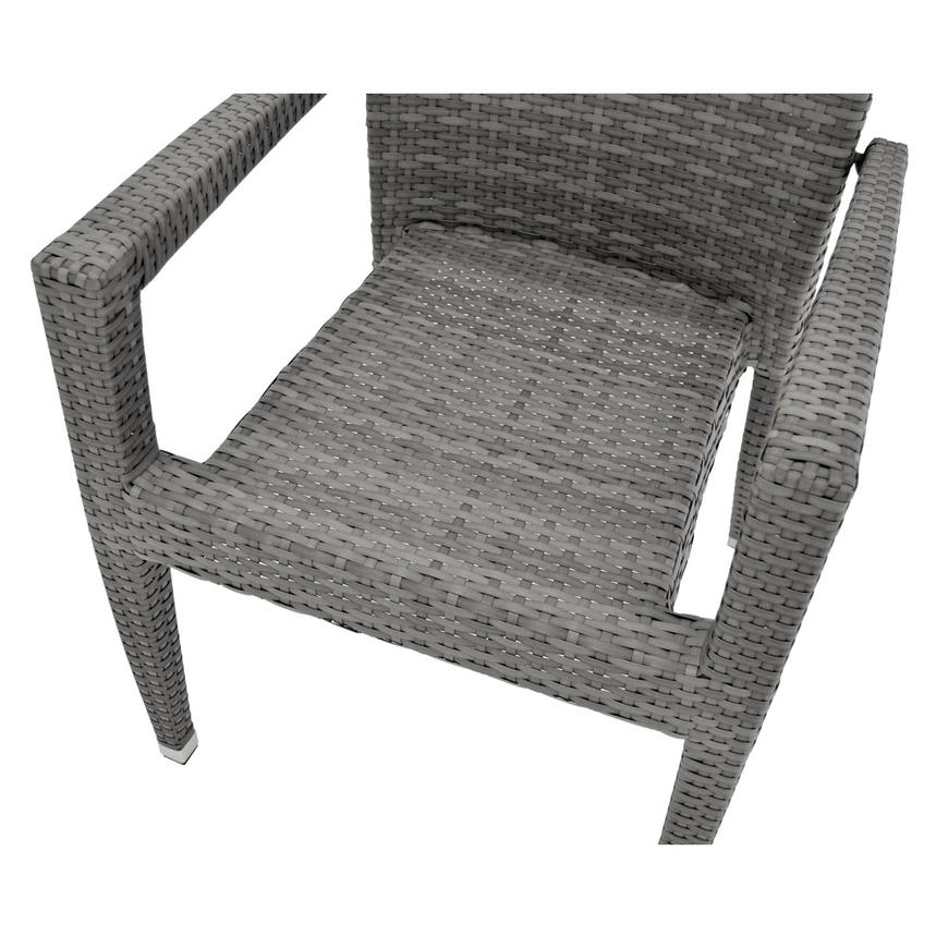 Gerald/Neilina Gray 3-Piece Patio Set w/10mm Glass Top  alternate image, 8 of 9 images.