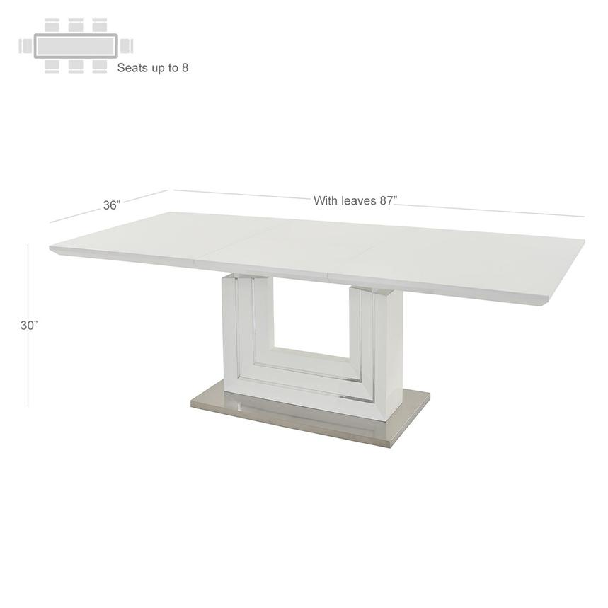 Lila White 5-Piece Casual Dining Set  alternate image, 4 of 12 images.