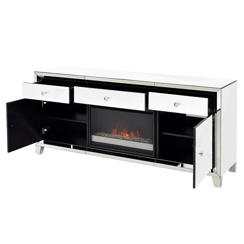 Amia White Faux Fireplace w/Remote Control  alternate image, 3 of 7 images.