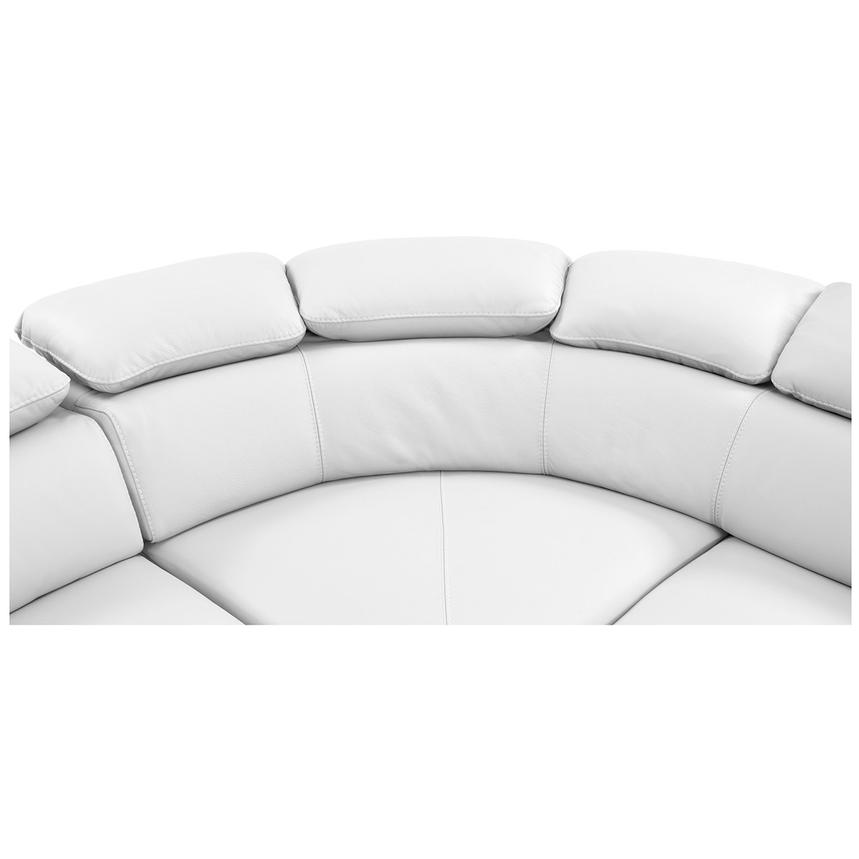 Tesla White Leather Sofa w/Right Chaise  alternate image, 4 of 8 images.