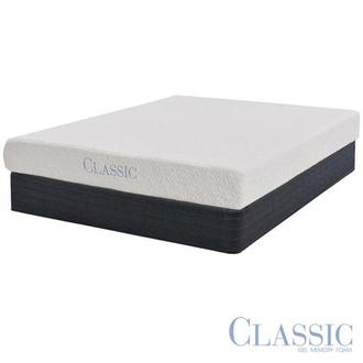 Ashbourne Memory Foam Twin Mattress Set w/Low Foundation by Classic Brands