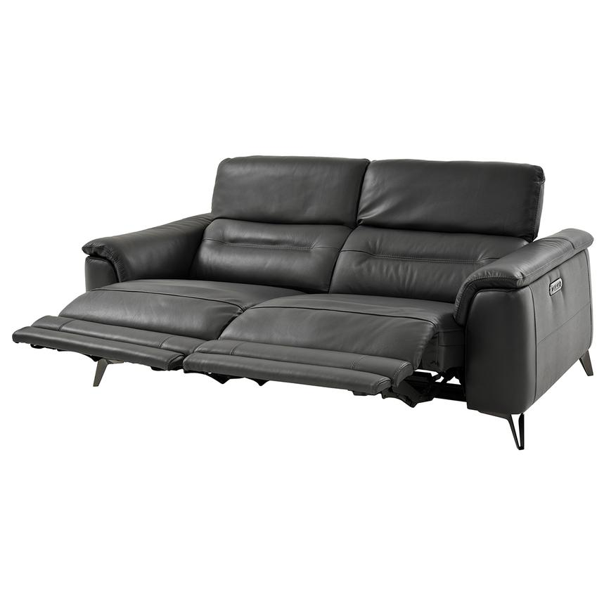Anabel Gray Power Motion Leather Sofa  alternate image, 3 of 12 images.