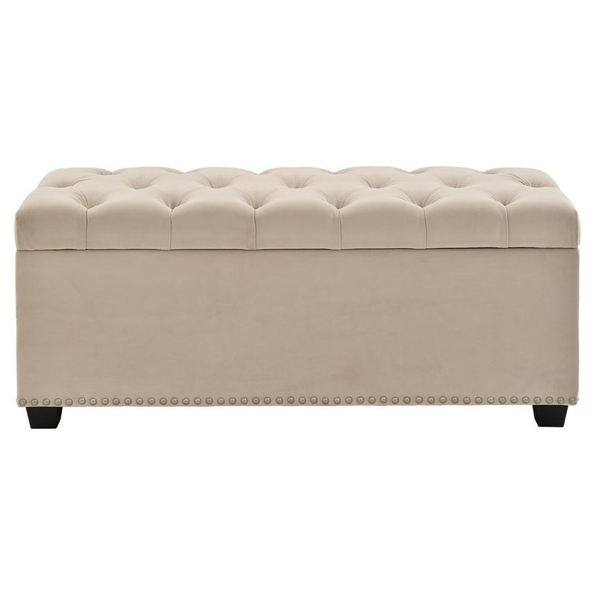 Majestic Beige Storage Bench  alternate image, 3 of 7 images.