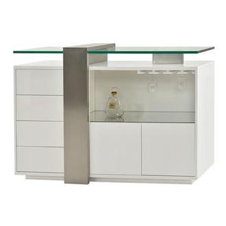 Totem White Bar Cabinet