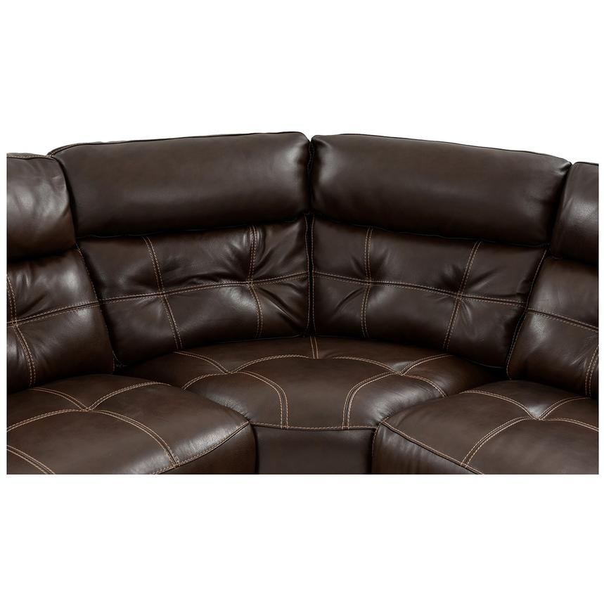 Stallion Brown Power Motion Leather Sofa w/Right & Left Recliners  alternate image, 4 of 9 images.