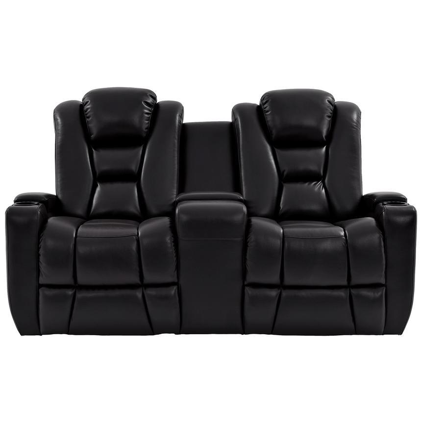 Transformer Ii Black Power Motion Sofa W Console El