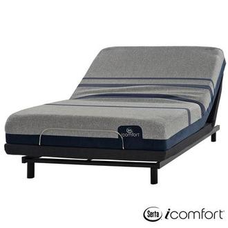 iComfort Blue Max 1000 Cushion Firm Full Mattress w/Essentials III Powered Base by Serta