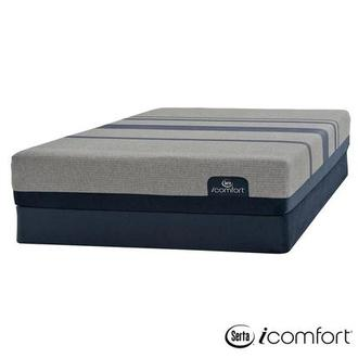 iComfort Blue Max 1000 Cushion Firm Queen Mattress w/Low Foundation by Serta