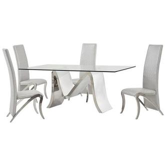 Maverick/Camila 5 Piece Formal Dining Set