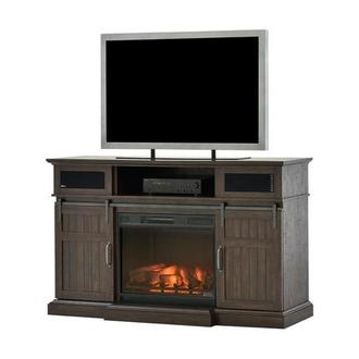 Dianni Faux Fireplace w/Speakers