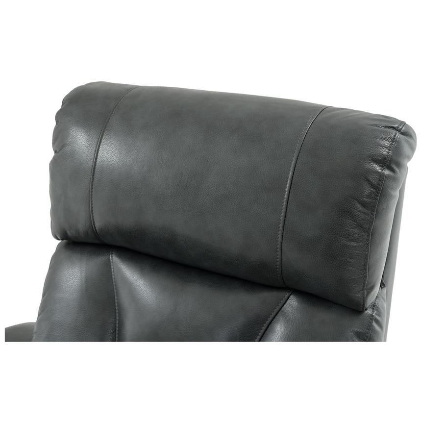 Gio Gray Power Motion Leather Recliner  alternate image, 9 of 11 images.