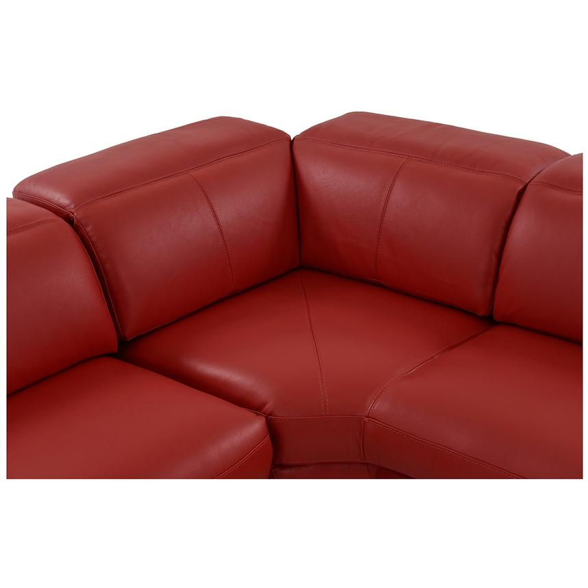 Leather Sofa Bed Toronto: Toronto Red Power Motion Leather Sofa W/Right Chaise