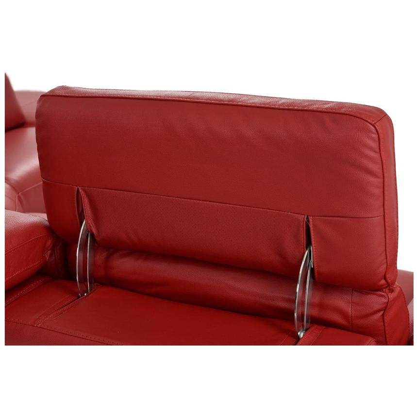 Toronto Red Power Motion Leather Sofa w/Right Chaise  alternate image, 9 of 12 images.