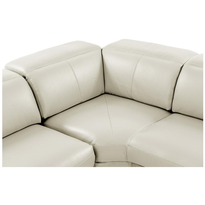 Toronto White Power Motion Leather Sofa W Right Chaise