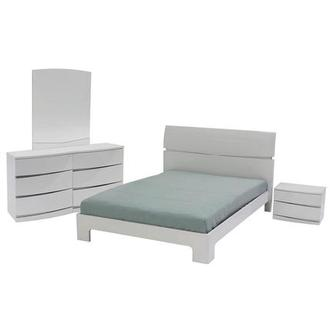 Brighton White 4-Piece Full Bedroom Set