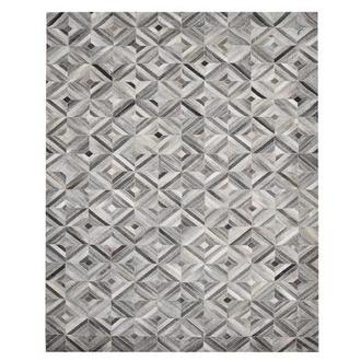 Texas Gray Cowhide Patchwork 8' x 10' Area Rug