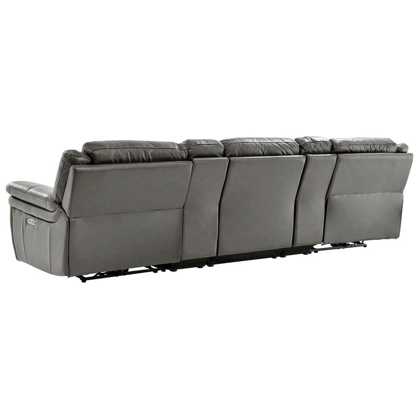 Stallion Gray Home Theater Leather Seating  alternate image, 4 of 9 images.