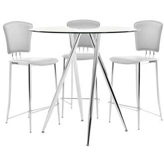 Latika/New Tracy White 4-Piece High Dining Set