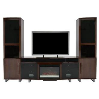 Enterprise Walnut Wall Unit w/Speakers