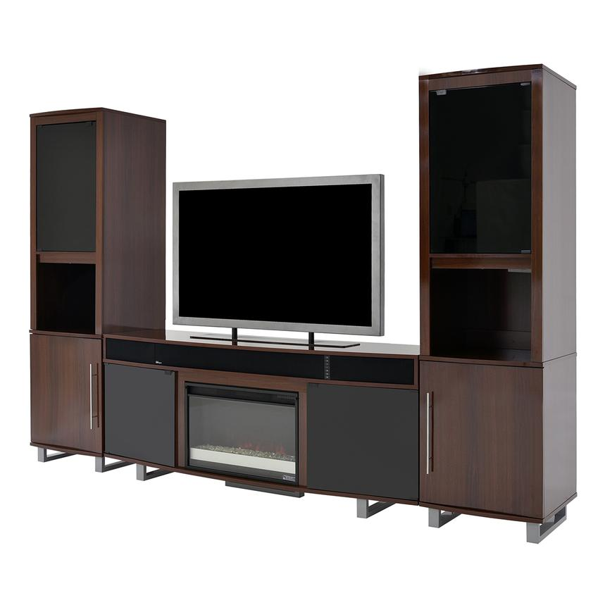 Enterprise Walnut Wall Unit w/Speakers  alternate image, 3 of 6 images.
