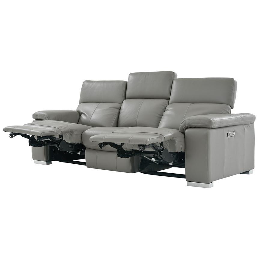 Charlie Gray Power Motion Leather Sofa El Dorado Furniture