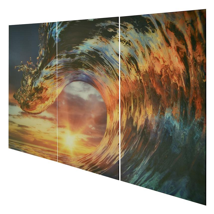 Onda II Set of 3 Acrylic Wall Art | El Dorado Furniture