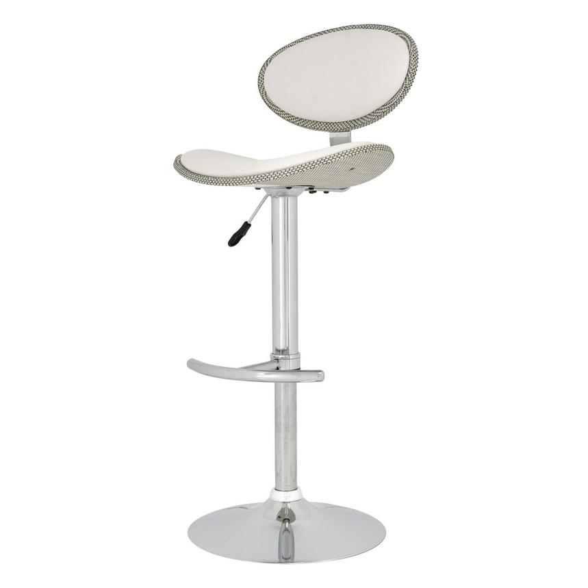 Noe White Adjustable Stool  alternate image, 3 of 5 images.