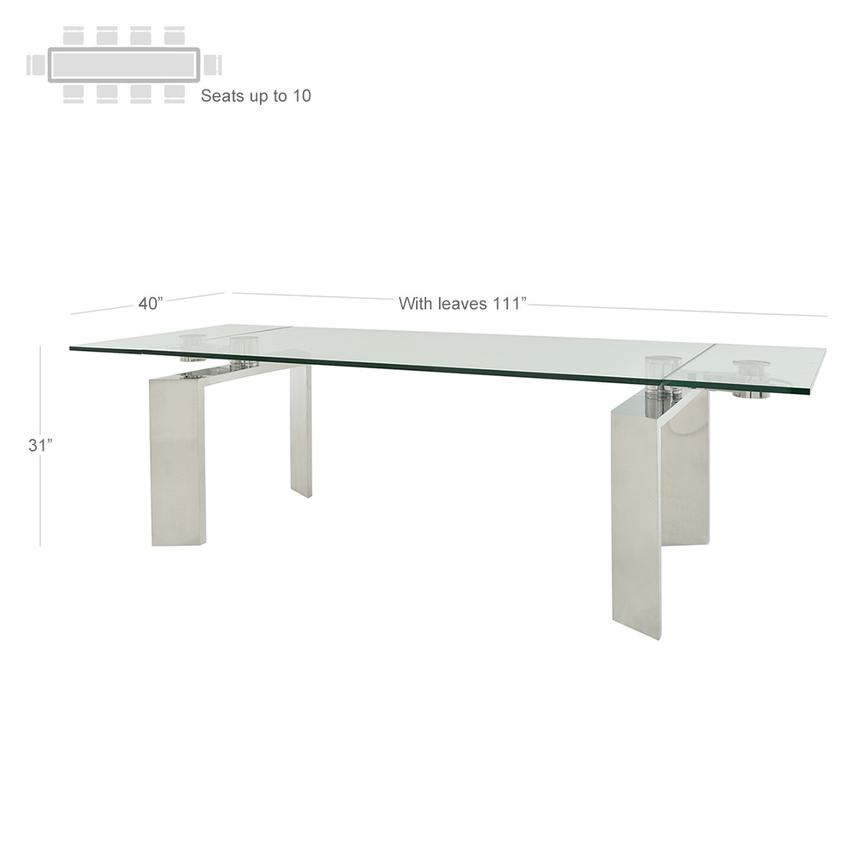 Melsar Extendable Dining Table  alternate image, 3 of 6 images.