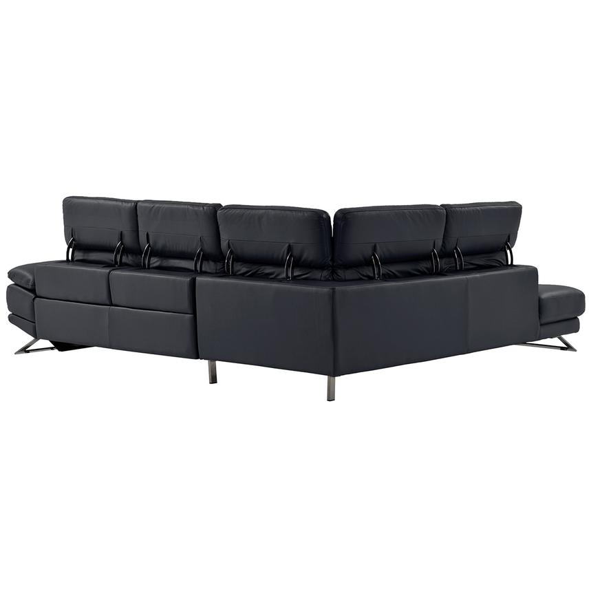 Toronto Dark Gray Power Motion Leather Sofa w/Left Chaise  alternate image, 3 of 9 images.