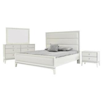 Chelsea White 4 Piece King Bedroom Set