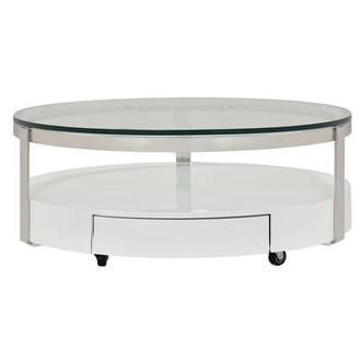 Cali Round Coffee Table w/Casters