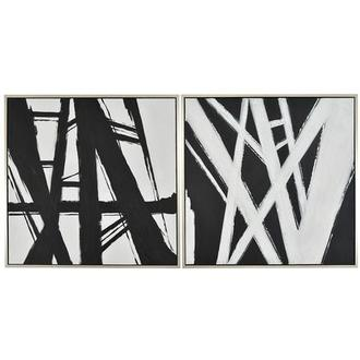 Blanc Noir Canvas Wall Art Set of 2