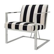 Fairmont Black/White Accent Chair  alternate image, 2 of 6 images.