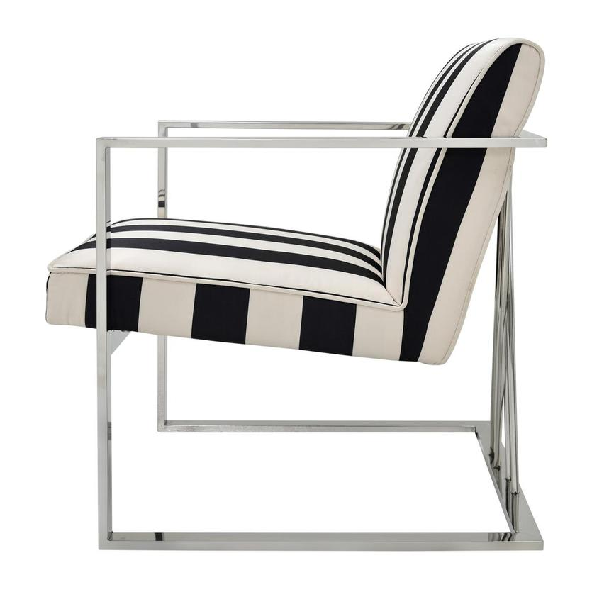 Fairmont Black/White Accent Chair  alternate image, 3 of 6 images.