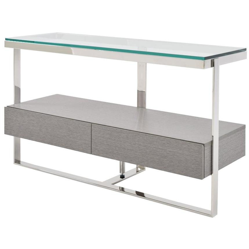 Calypso Matte Gray Console Table  alternate image, 3 of 8 images.