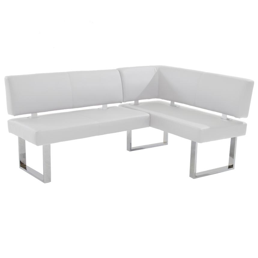 Linden Clear/White Right Corner Nook Set w/Bench  alternate image, 9 of 16 images.