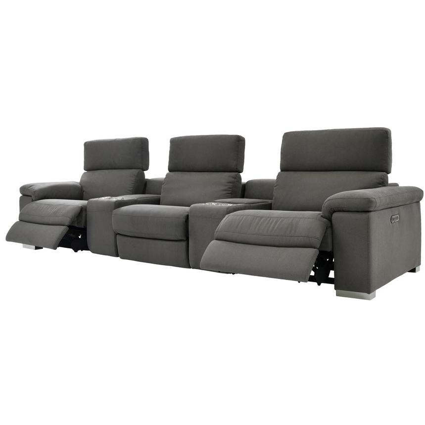 Karly Dark Gray Home Theater Seating  alternate image, 3 of 9 images.