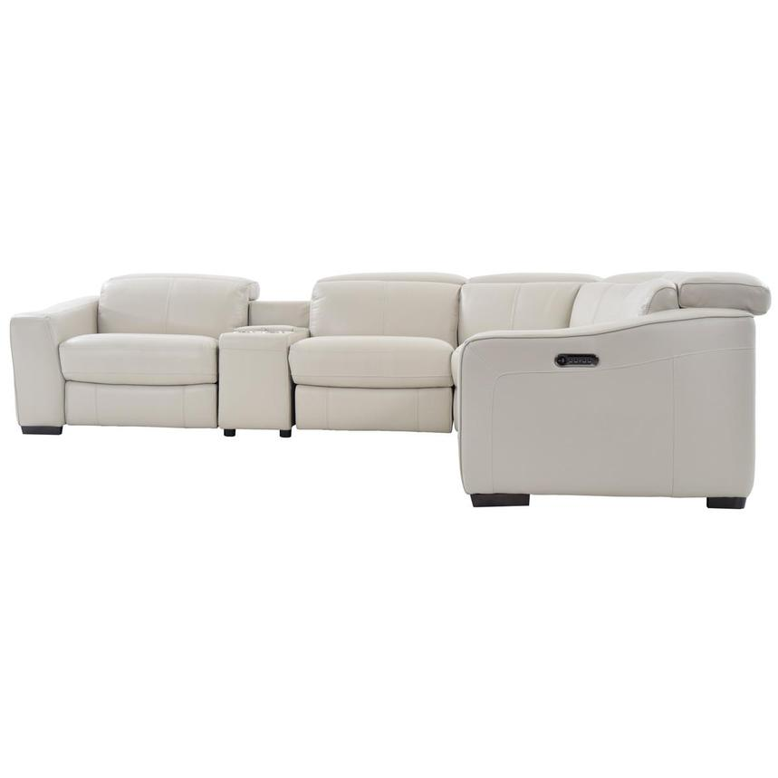 Jay Cream Power Motion Leather Sofa w/Right & Left Recliners  alternate image, 3 of 8 images.