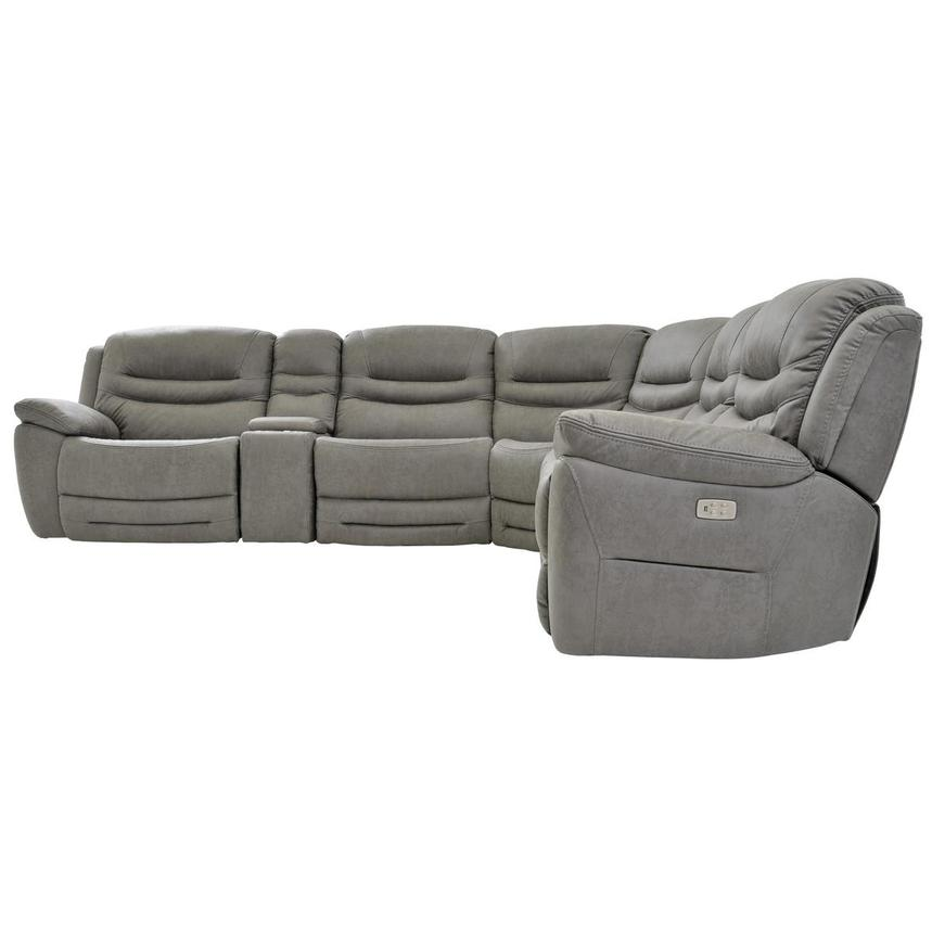 Dan Gray Power Motion Sofa w/Right & Left Recliners  alternate image, 3 of 8 images.