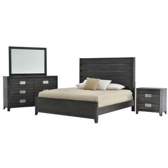 Contour Gray 4-Piece Queen Bedroom Set