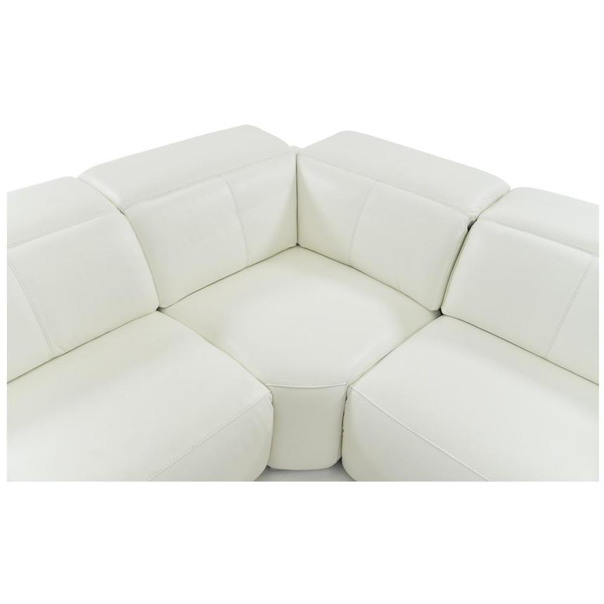 Michelle White Power Motion Leather Sofa w/Right Chaise  alternate image, 4 of 6 images.