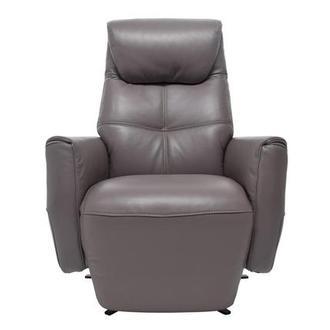 Ron Gray Power Motion Leather Recliner