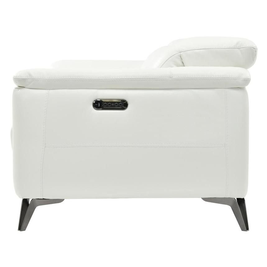 Anabel White Power Motion Leather Sofa  alternate image, 4 of 8 images.