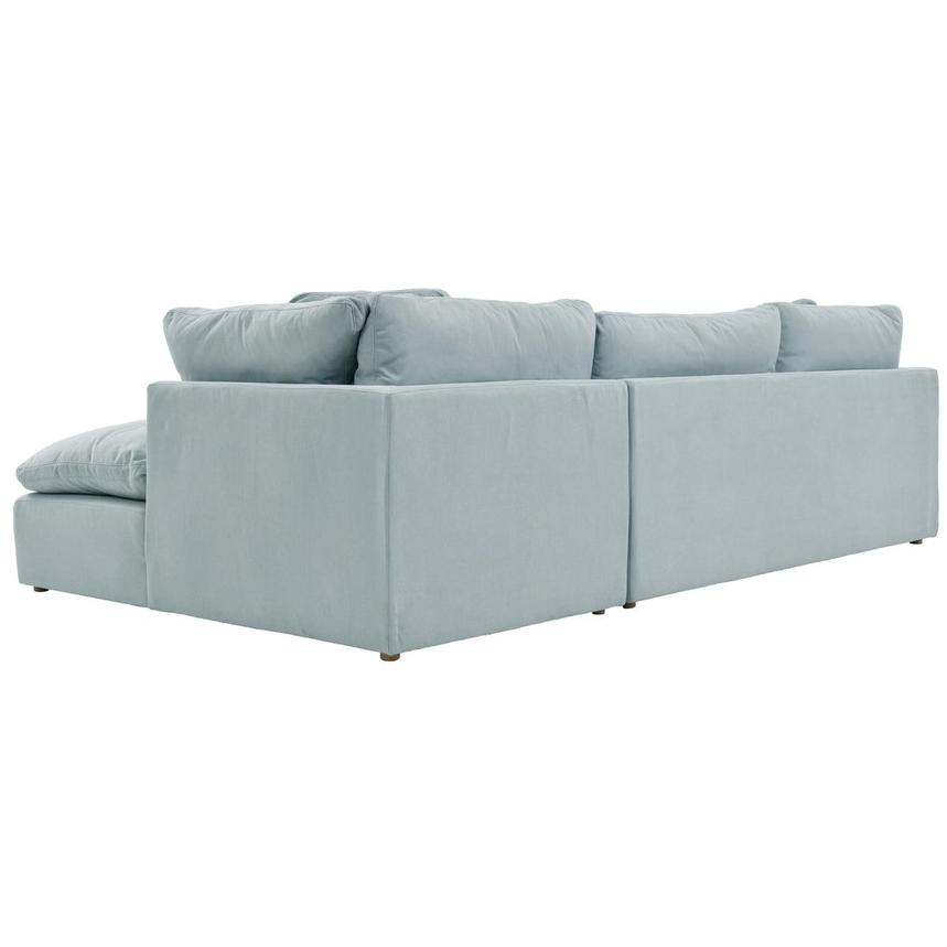 Neapolis Blue Sofa w/Right Chaise  alternate image, 4 of 5 images.