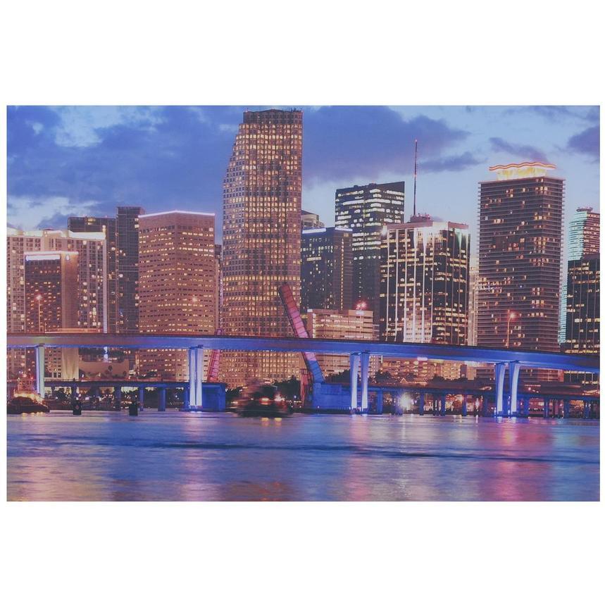 Miami Skyline Iii Set Of 3 Acrylic Wall Art El Dorado
