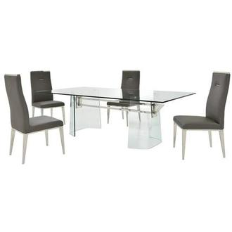 Getty/Hyde Gray 5-Piece Formal Dining Set